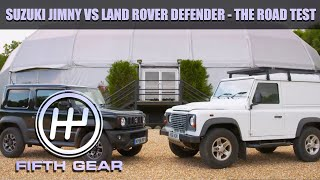 Land Rover Defender VS Suzuki Jimny - the road test | Fifth Gear by Fifth Gear