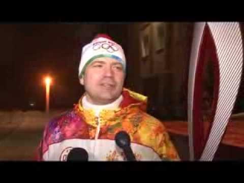 Факел Олимпийского огня в Калачинске