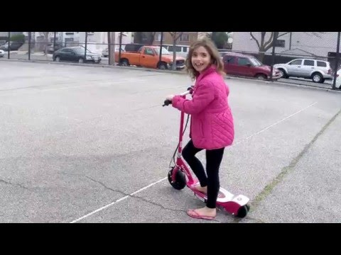 Kaitlyn Making Progress With Her Razor E100 Electric Scooter!