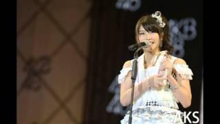 AKB48横山由依スピーチ AKB選抜総選挙2014 13位