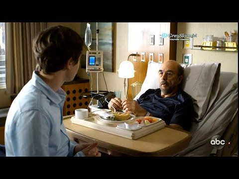 The Good Doctor 2x05 Shaun Uses Muffin To Encourage Glassman To Get Up And Walk