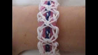 Rainbow Loom- How to Make a Bird's Nest Bracelet (Based off the Triple Link Chain) - YouTube