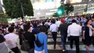 渋谷スクランブル交差点封鎖 W杯予選 2013