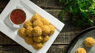 Baked Potato Cheese Balls Recipe by Home Cooking Adventure