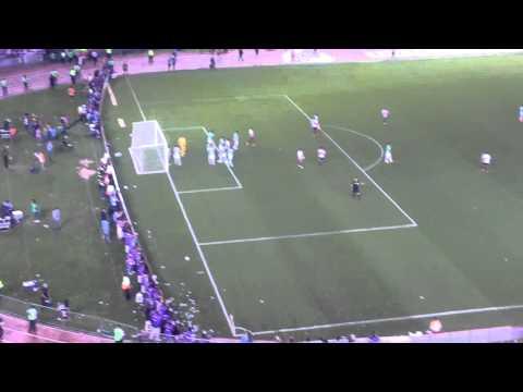 Video - Gol de Pezzella desde la tribuna tremenda fiesta River 2 Atletico Nacional 0 Final Sudamericana 2014 - Los Borrachos del Tablón - River Plate - Argentina