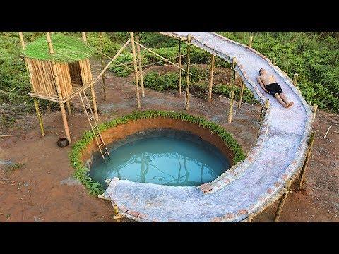 Build Water Slide House Around Underground Swimmin