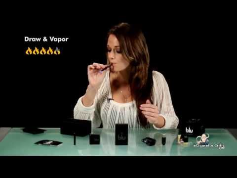 Puffing e-cigarette, e-cig by hot girl and guy