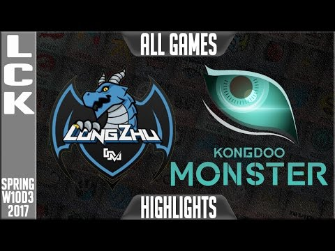 LongZhu Gaming vs Kongdoo Mosnter Highlights All Games - LCK W10D3 Spring 2017 LZ vs KDM All Games
