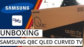 Samsung Q8C 4K HDR QLED TV Unboxing and Setup