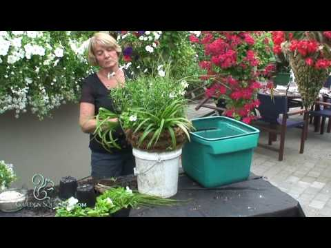 How to Make a Hanging Basket in a Cone Style Planter (New Style)