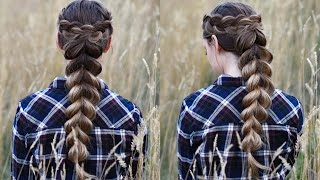 Wrapped Pull Thru Braid | Cute Girls Hairstyles by Cute Girls Hairstyles