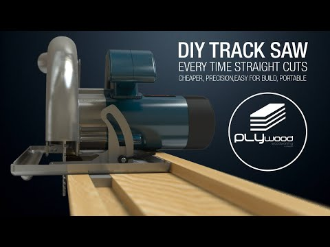 Woodworking table - DIY Circular Saw Track Saw Guide - Homemade track saw