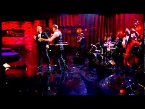 wanna - Robbie Williams & Olly Murs perform