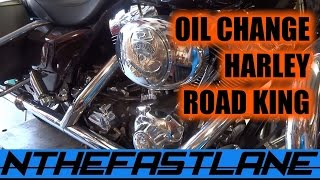 9. Oil Change Harley Road King Custom 05
