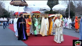Ethiopian  Timket/Epiphany celebration in Seattle,- January 18, 2014 - miles of walk on Red Carpet