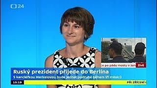 Merkelová se sejde s Putinem