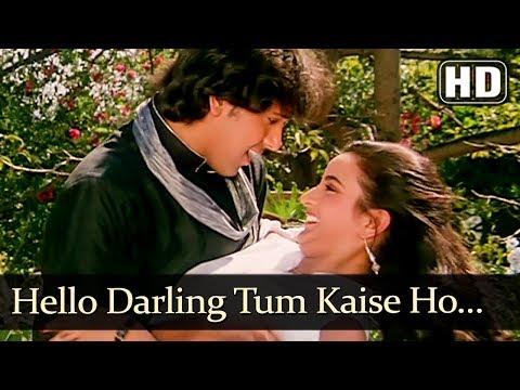 Video Hello Darling Tum Kaise Ho (HD) - Ghar Ghar Ki Kahani Song - Govinda - Farha - Romantic Song download in MP3, 3GP, MP4, WEBM, AVI, FLV January 2017