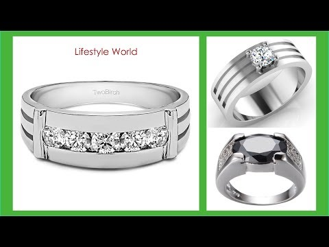 TOP 30 Best Design White Gold Ring Mens Tanishq | Latest Men's Engagement Rings 2018