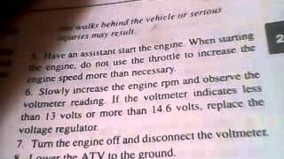 3. polaris how to check voltage regulatoor manual 1985-1995 all models
