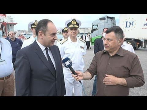 Το πλοίο «Νήσος Σάμος» επιθεώρησε ο Γιάννης Πλακιωτάκης