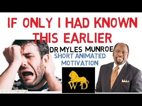 DO YOU FEEL LIKE YOU DONT FIT IN? by Dr Myles Munroe