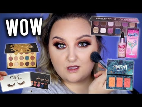 TESTING INFLUENCER CREATED MAKEUP BRANDS! + BEAUTY COMMUNITY CHAT