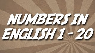 Numbers In English 1-20, Números En Ingles, Nombres En Anglais