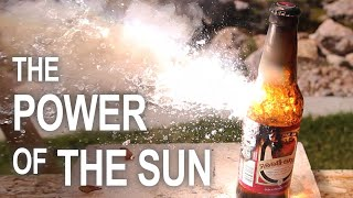 Burning Stuff With 2000ºF Solar Power!! by The King of Random
