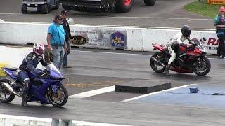 8. 2016 Suzuki gsxr 1000 vs Nitrus Yamaha R6-street bike racing,drag racing,acceleration and top speed