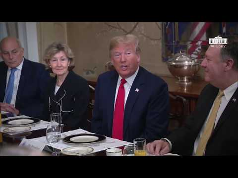 President Trump Participates in a Bilateral Breakfast with the Secretary General of NATO