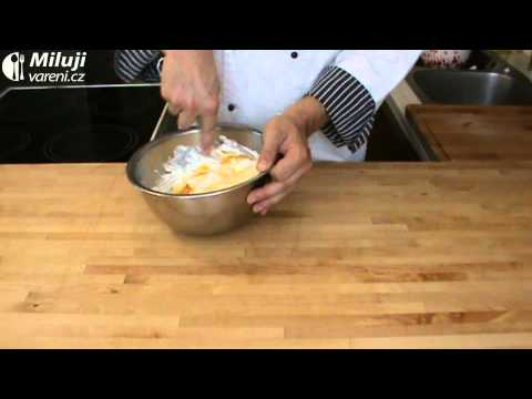Mramorovaný malinový koláč