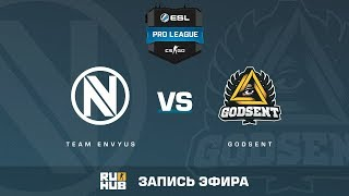 EnVyUs vs GODSENT - ESL Pro League S6 EU - de_train [sleepsomewhile, CrystalMay]
