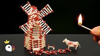 Video How to Make a Match Windmill With Glue and Burn it MP3, 3GP, MP4, WEBM, AVI, FLV Desember 2018