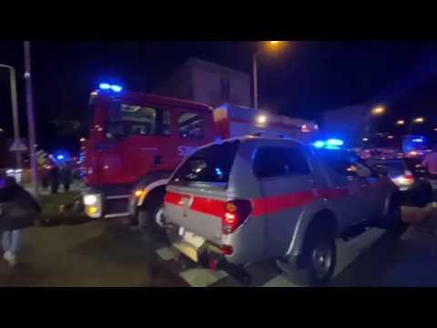 Wideo: Mężczyzna groził wysadzeniem bloku