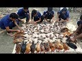 130 Quali Bird & 40 Chicken Mixed Curry For Full Village Peoples To Celebrate Million Subscriber