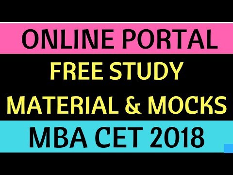 Free Study Material, Free Mocks, Notes - MBA CET 2018
