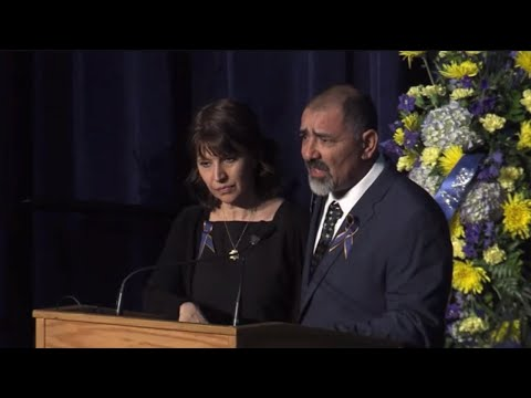 Natalie Corona's parents honor their daughter at memorial for fallen officer