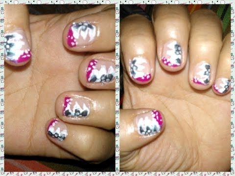 manicure flores - Hola Chicas aproveche el día de hoy para dejarles un video de una manicure facil :D Espero que se animen a realizarlo. Les cuento que ya tengo facebook del C...