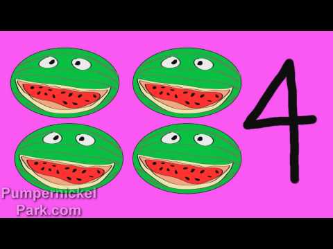 Fruity Numbers 1 to 10: Count Fruit Numbers 1 to 10 Stories for Children Books Edu Early Learning