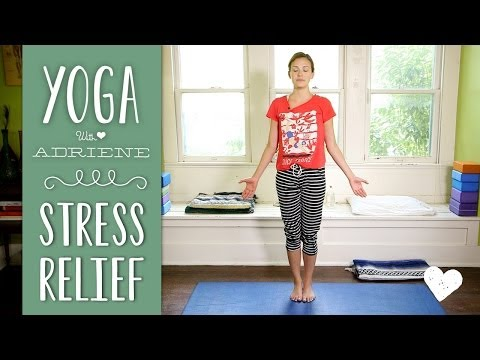 yoga - Join Adriene on the mat for a Yoga for stress relief sequence! This yoga practice is great for a tired body and a busy mind. Try this sequence to calm the ne...