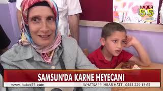 SAMSUN'DA 245 BİN ÖĞRENCİ KARNE ALDI
