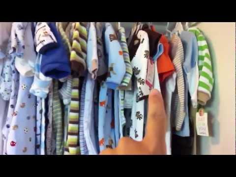 ROPA DE BEBES - Tour de el closet y cajones del bebe para mostrarles como he organizado todo y enseñarles lo que he tenido tanta suerte de recibir como regalo.