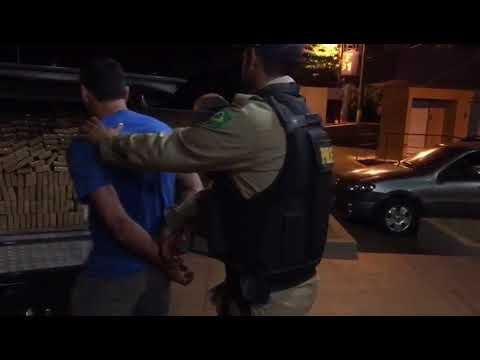 PRF prende motorista com cerca de 2,5 toneladas de drogas e munições na BR-364, em Jataí (GO)