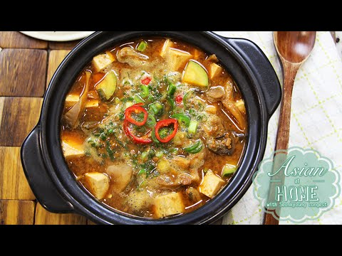 Doenjang Jjigae : Korean Fermented Soybean Paste Soup Recipe 칼칼한 된장찌개