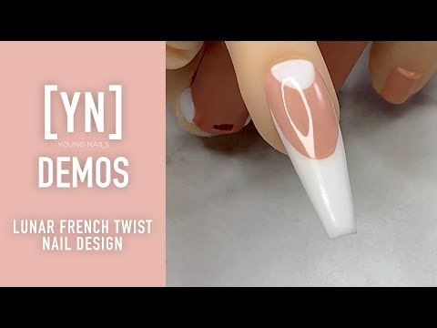 Nail designs - Young Nails Nail Demo - Lunar French Twist Nail Design - Acrylic Nails