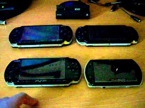 psp - Overview of the 4 different Sony PSP hand held gaming consoles.