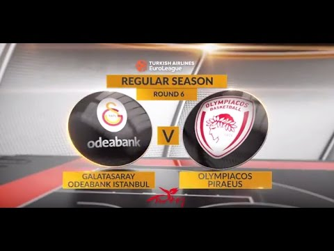EuroLeague Highlights RS Round 6: Galatasaray Odeabank Istanbul 89-87 Olympiacos Piraeus