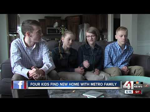 Four teen siblings find their forever family