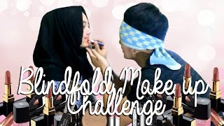 BLINDFOLD MAKEUP CHALLENGE | JADI BADUT ANCOL