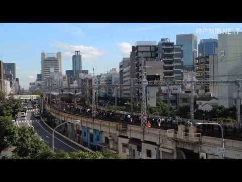 JR神戸線で架線切れ 5千人線路歩く、15万人影響